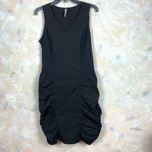 XCVI Seamed Scrunch Dress Black